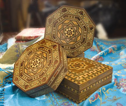 Egyption Wooden Inlay Boxes